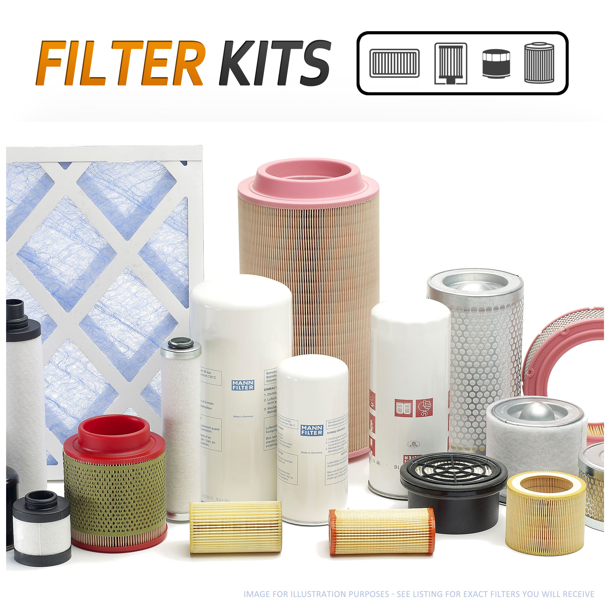 4pc Air Oil Fuel Cabin Pollen Service Filter Kit To Fit Mercedes 2005 Benz Location Image Is Loading